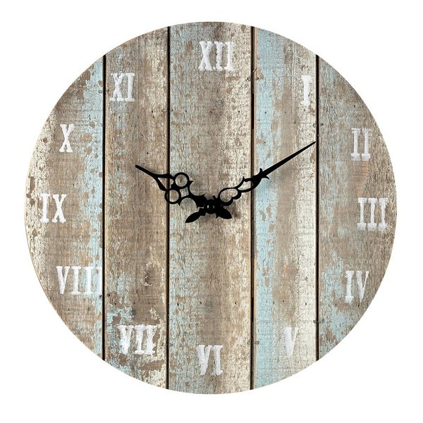16  round wood wall clock