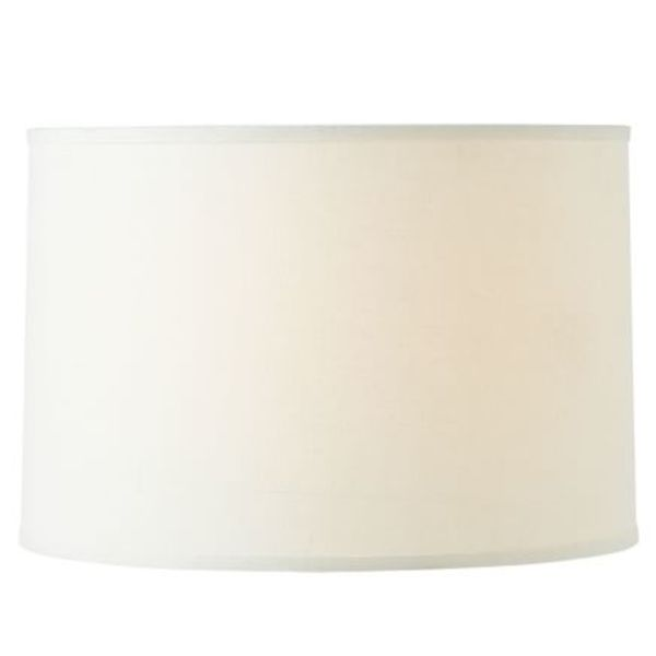 Straight sided linen drum lamp shade 1 b