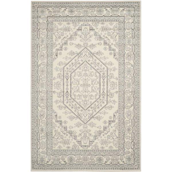 Silver area rug