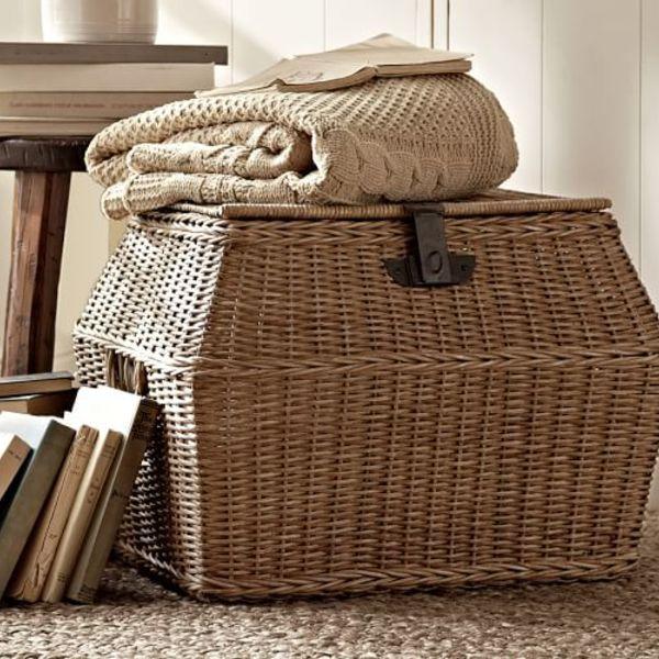 Jacquelyne angled lidded basket c