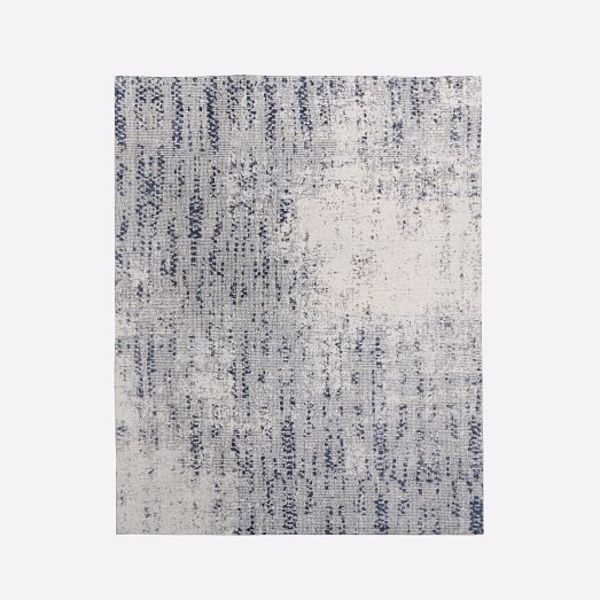 Distressed foliage rug moonstone c