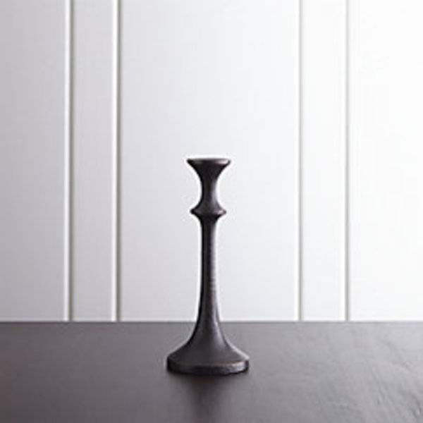 Emmett small bronze taper candle holder