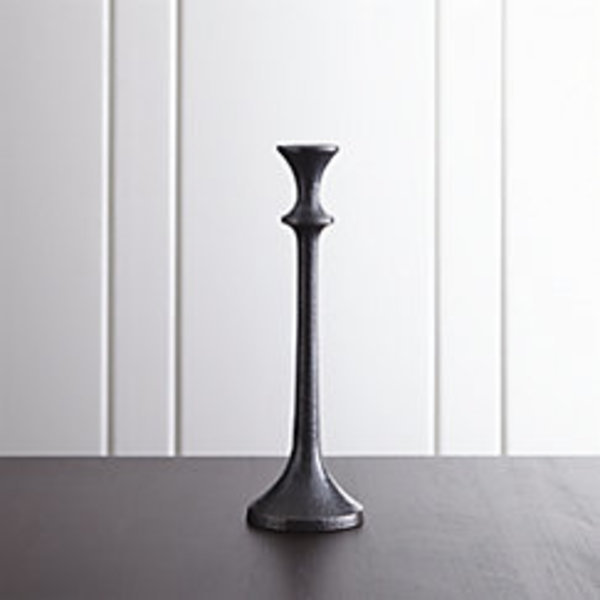 Emmett medium bronze taper candle holder