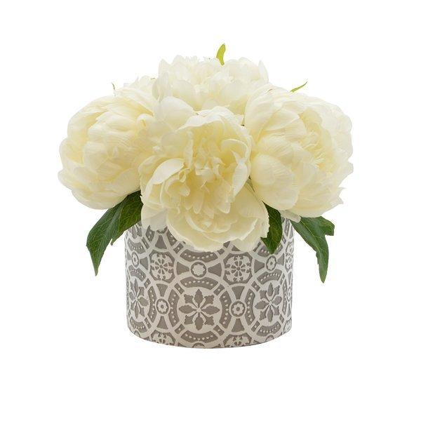 Peony floral arrangements in pot