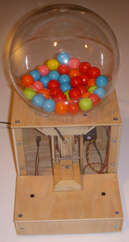 wooden gumball machine instructions