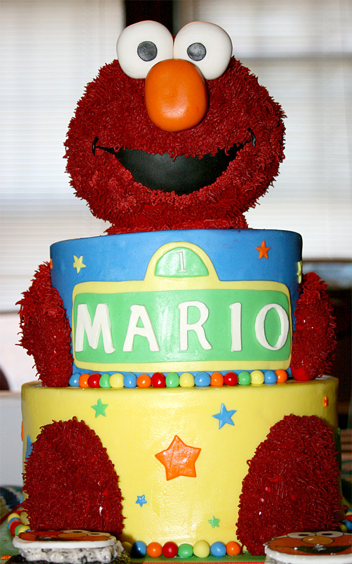 Elmo - Sweet Cheeks Custom Cake