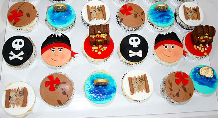 Pirate Cupcakes - Sweet Cheeks Custom Cake