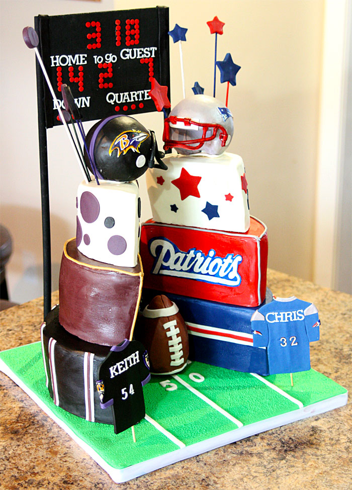 Ravens vs Patriots - Sweet Cheeks Custom Cakes