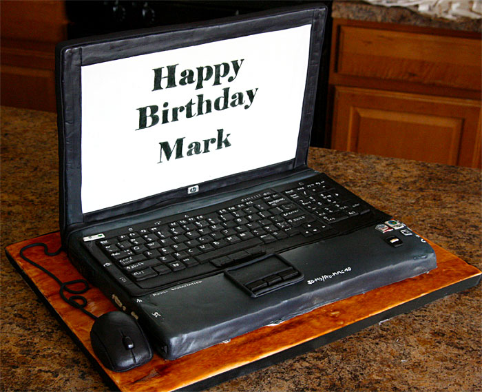 Laptop Cake - Sweet Cheeks Custom Cakes