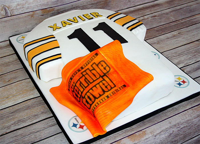 Pittsburgh Steelers Jersey Custom Cake