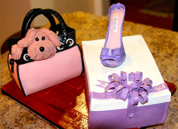 Purse & Shoe Box by Sweet Cheeks Custom Cakes