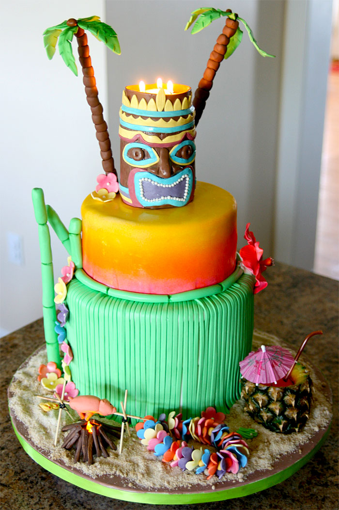 Luau cake by Sweet Cheeks Custom Cakes