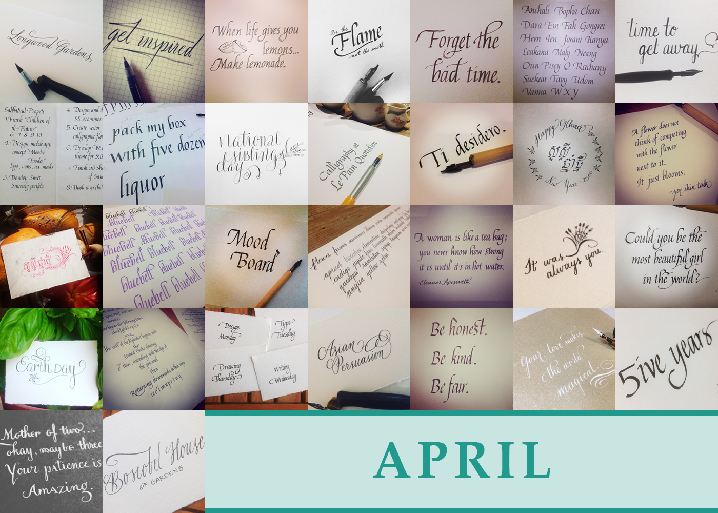 365 Days of Calligraphy: April