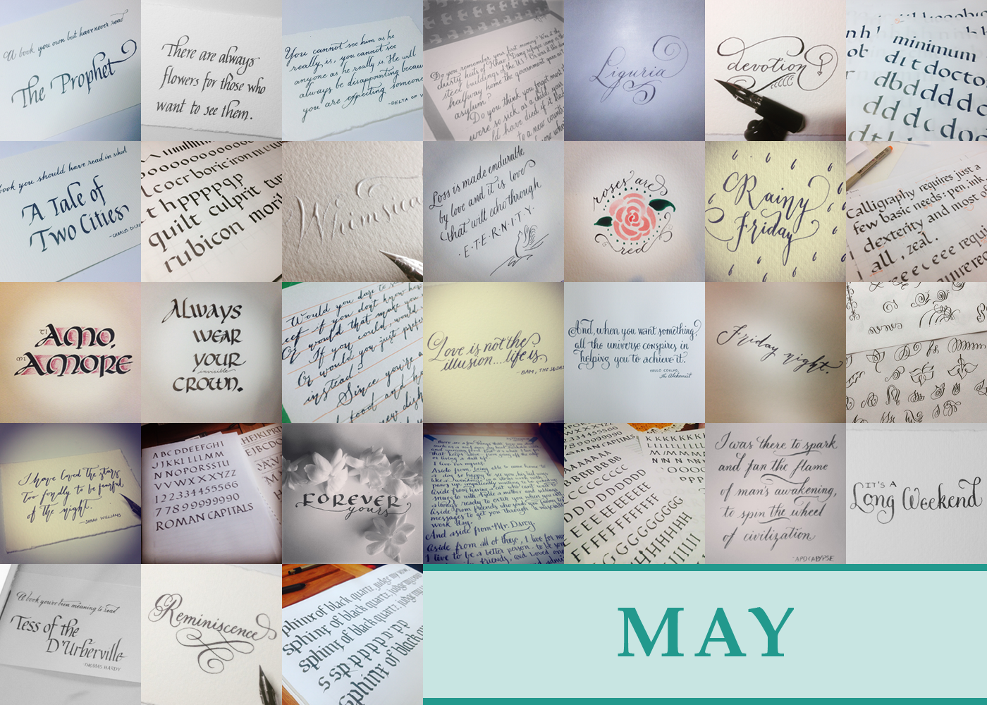 365 Days of Calligraphy: May