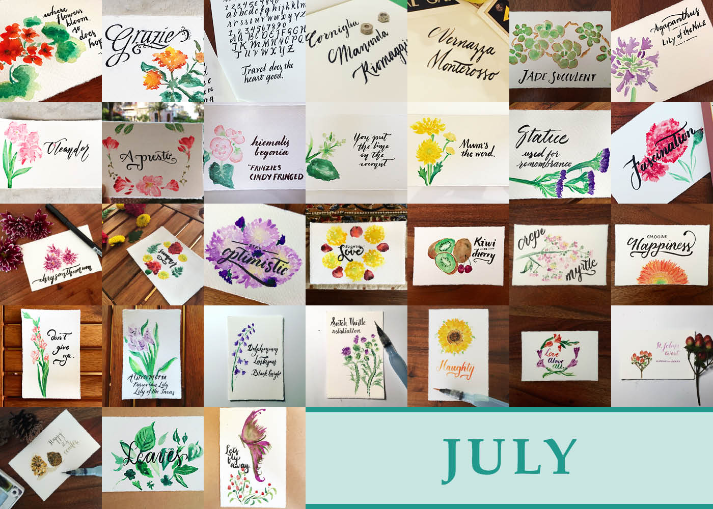 365 Days of Calligraphy: July