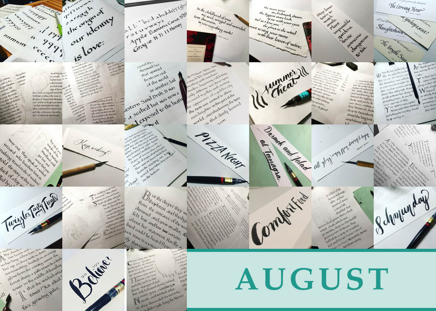 365 Days of Calligraphy: August