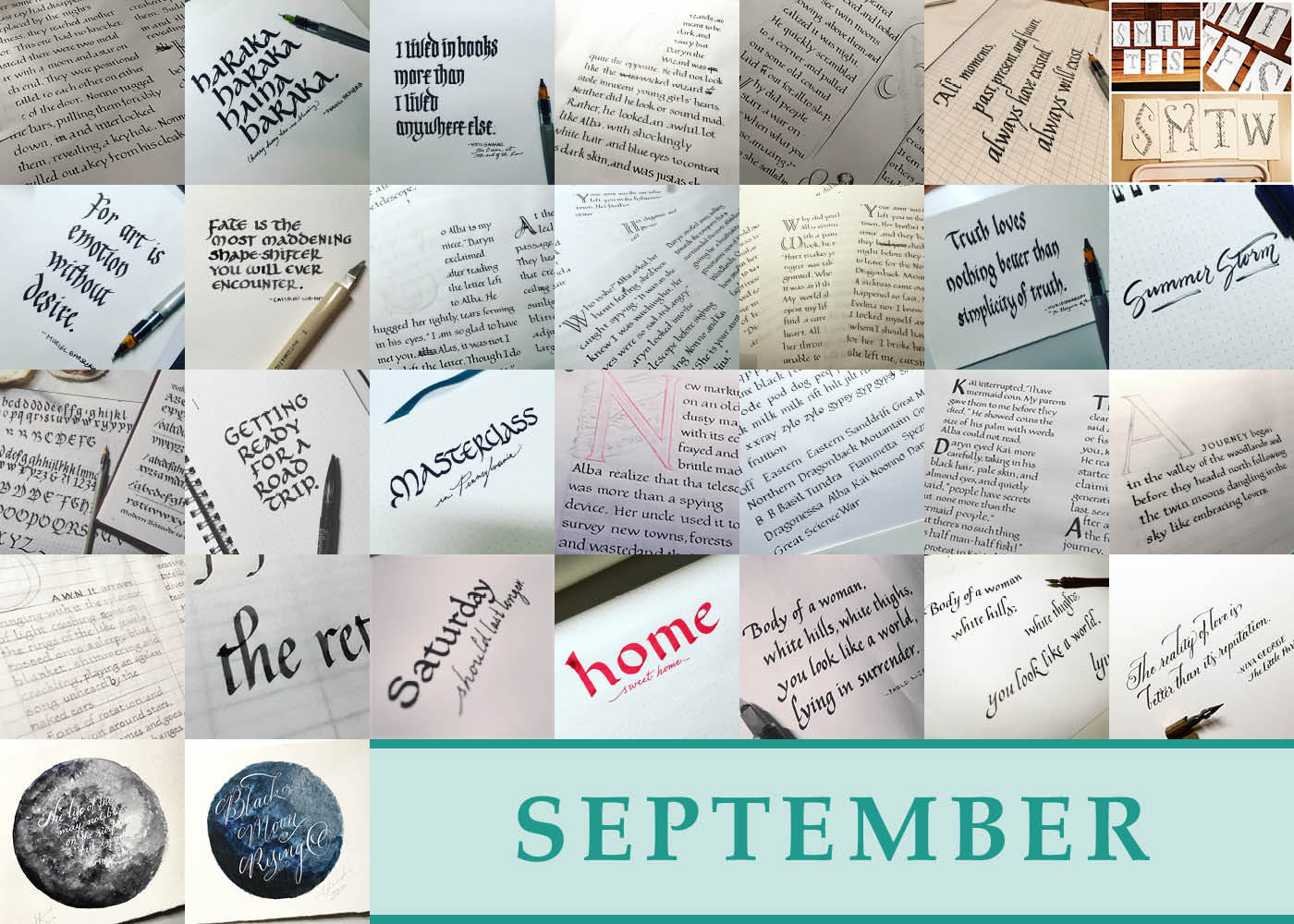 365 Days of Calligraphy: September