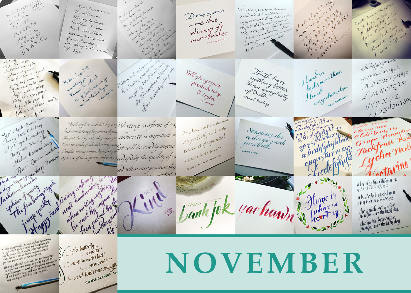 365 Days of Calligraphy: November