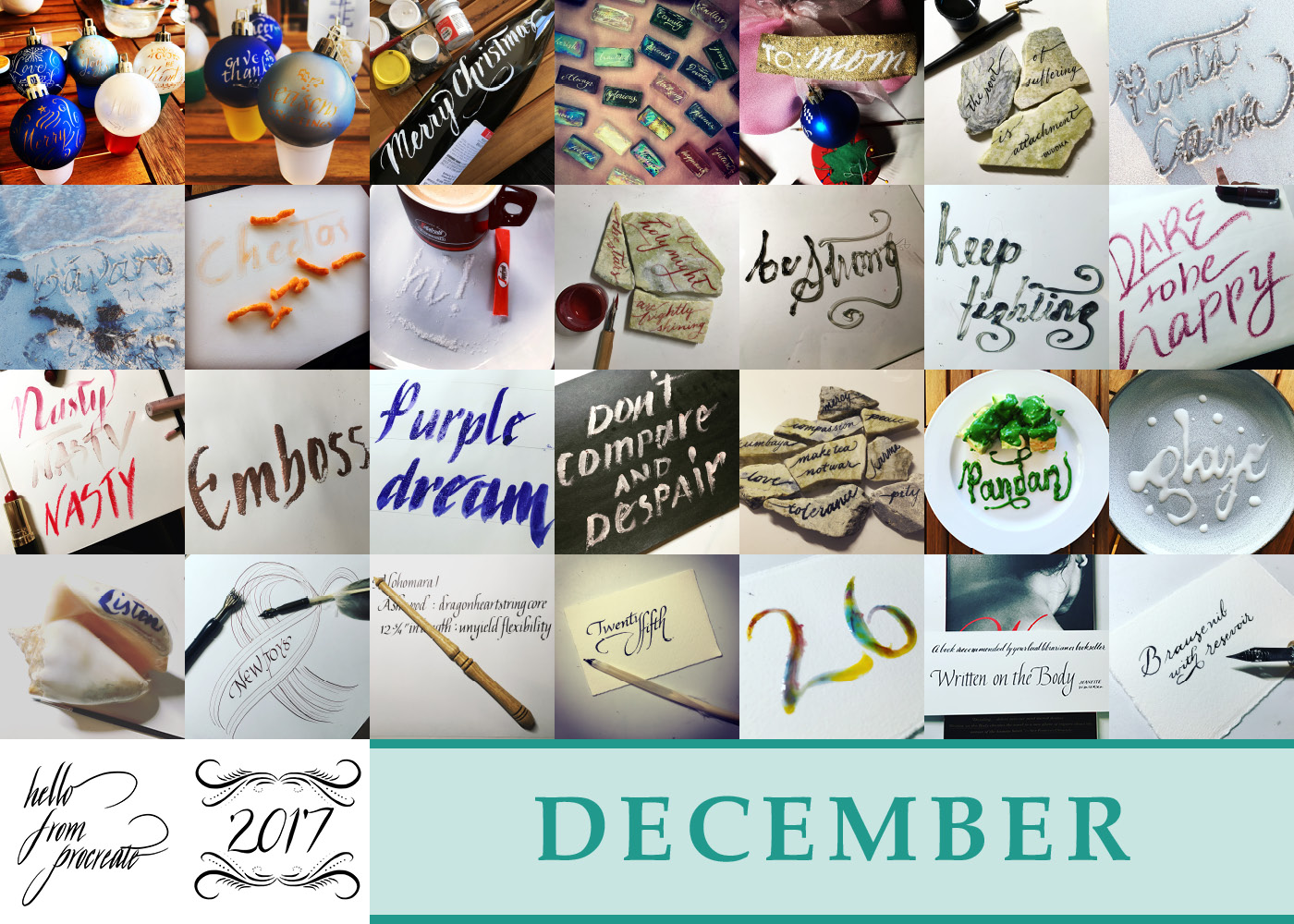 365 Days of Calligraphy: December