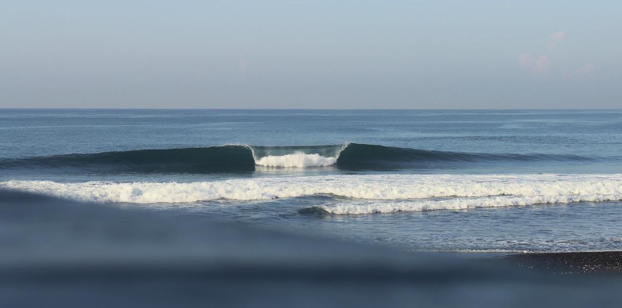 Surfing empty tubes, Bali.