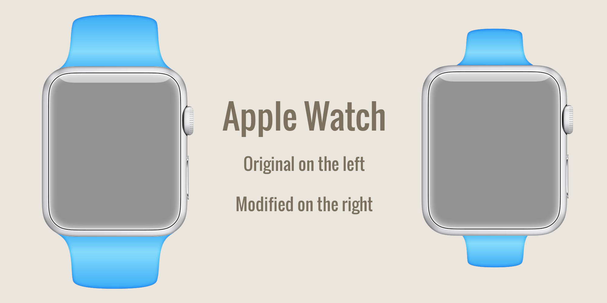 Apple Watch examples of Balanced and Unbalanced design