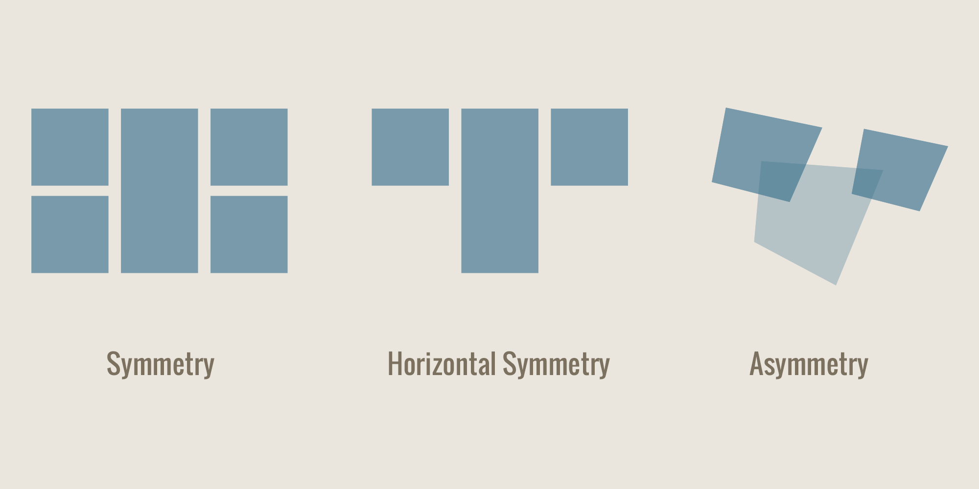 Examples of Symmetry and Asymmetry