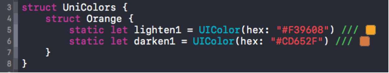 Xcode Color Literals Preview