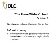"""""""The Three Wishes"""" Read Aloud: Listening Guide"""