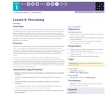 CS Discoveries 2019-2020: Problem Solving Lesson 1.6: Processing