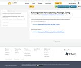 Kindergarten Home Learning Packages