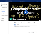 Finance & Economics: Introduction to Compound Interest and E