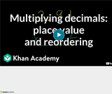 Arithmetic Operations: Multiplying Decimals 4