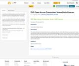 DLC Open Access Orientation: Senior Math Courses