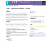 CS Discoveries 2019-2020: Problem Solving Lesson 1.3: Exploring Problem Solving