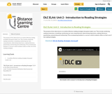 DLC ELA6: Unit 2 - Introduction to Reading Strategies