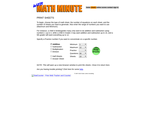 Web Math Minute