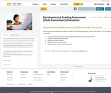 Developmental Reading Assessment (DRA) Assessment Information