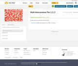 Math Interventions Tier 1, 2, 3