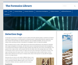 Detection Dogs – The Forensics Library