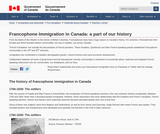 Francophone Immigration in Canada: a part of our history