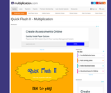 Free Online Multiplication Flash Cards