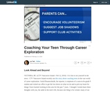 Coaching Your Teen Through Career Exploration