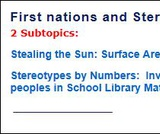 First Nations and Stereotypes in Math