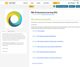 PBL Professional Learning (PD)