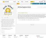 Oil Drum Explosion Article