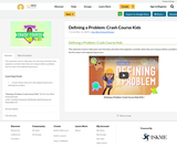 Defining a Problem: Crash Course Kids