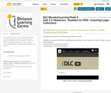 DLC Blended Learning Math 3 - Unit 2.1: Numeracy - Numbers to 1000 - Counting Larger Collections