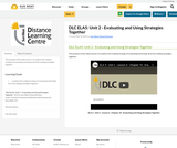 DLC ELA5: Unit 2 - Evaluating and Using Strategies Together