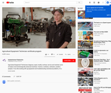Agricultural Equipment Technician Program Video from Saskpolytechnic