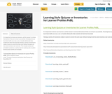 Learning Style Quizzes or Inventories for Learner Profiles PeBL